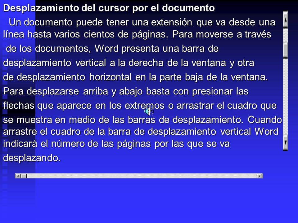 Desplazamiento del cursor por el documento