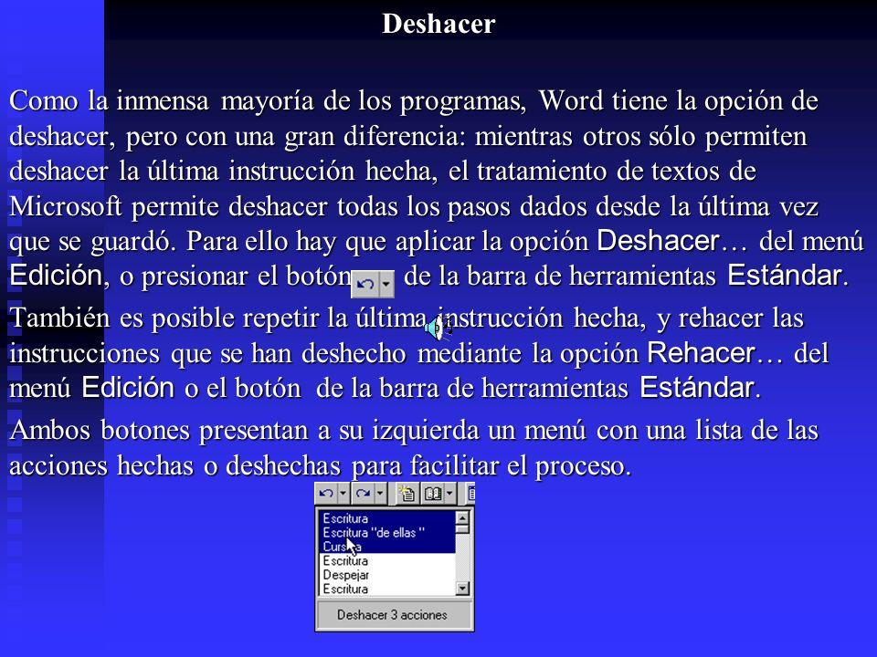 Deshacer
