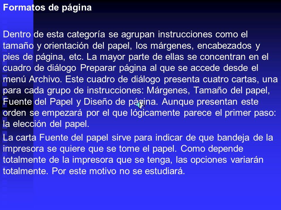 Formatos de página