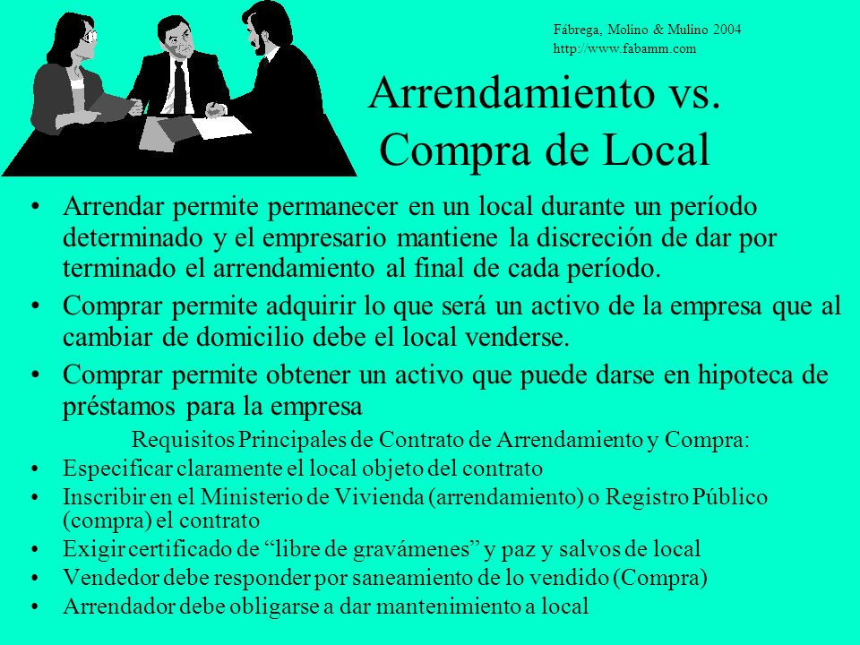 Arrendamiento vs. Compra de Local