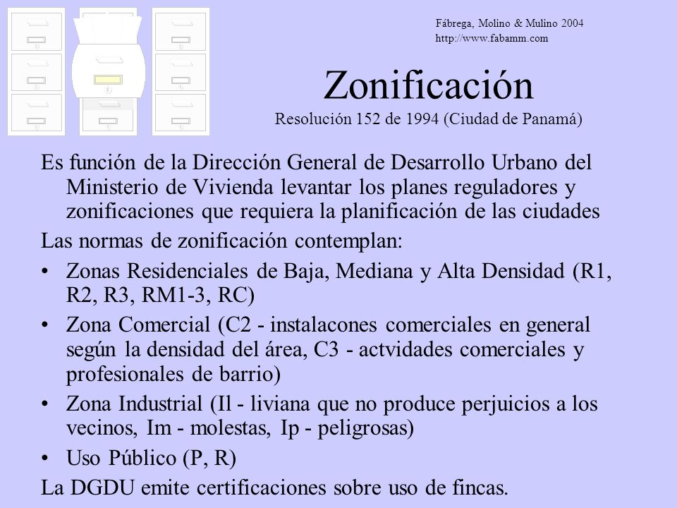 Zonificación Resolución 152 de 1994 (Ciudad de Panamá)