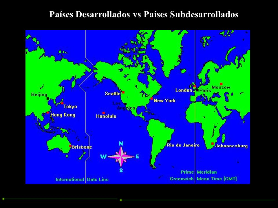 Países Desarrollados vs Países Subdesarrollados