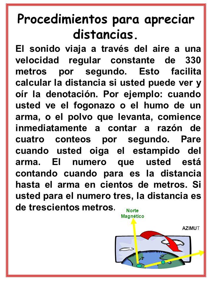Procedimientos para apreciar distancias.