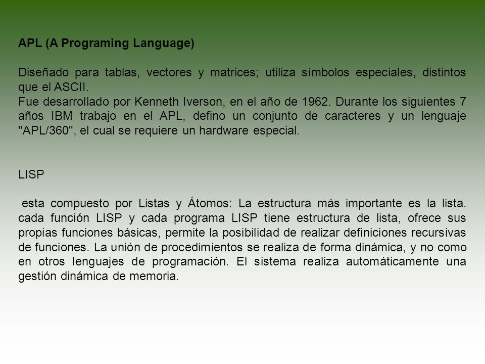 APL (A Programing Language)