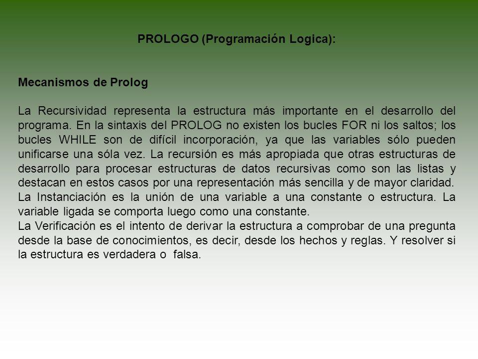 PROLOGO (Programación Logica):