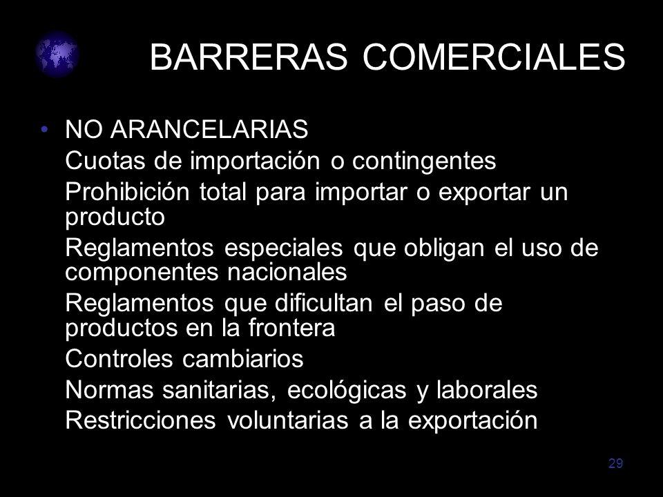 BARRERAS COMERCIALES NO ARANCELARIAS