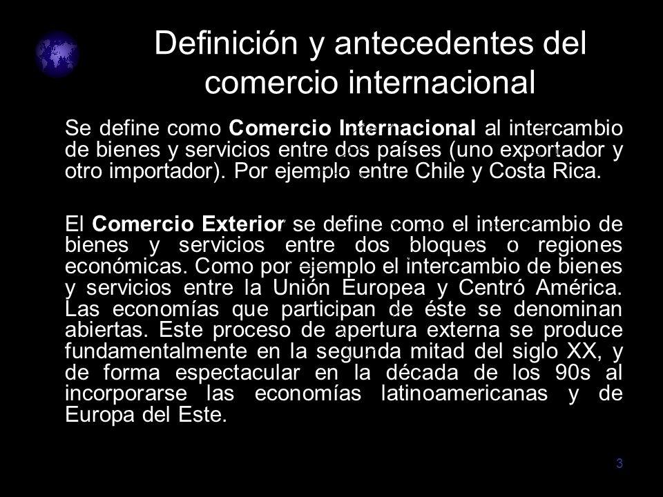 Definición y antecedentes del comercio internacional