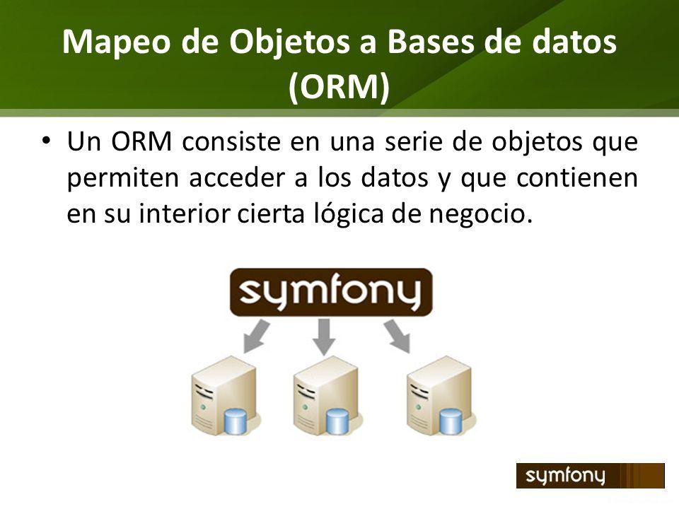 Mapeo de Objetos a Bases de datos (ORM)