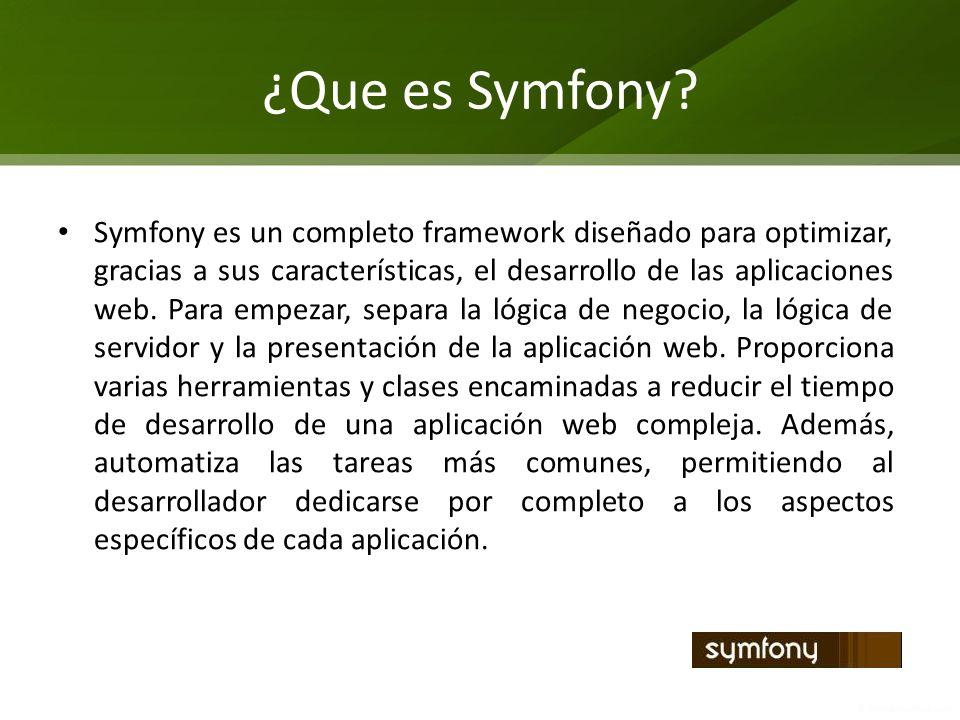 ¿Que es Symfony