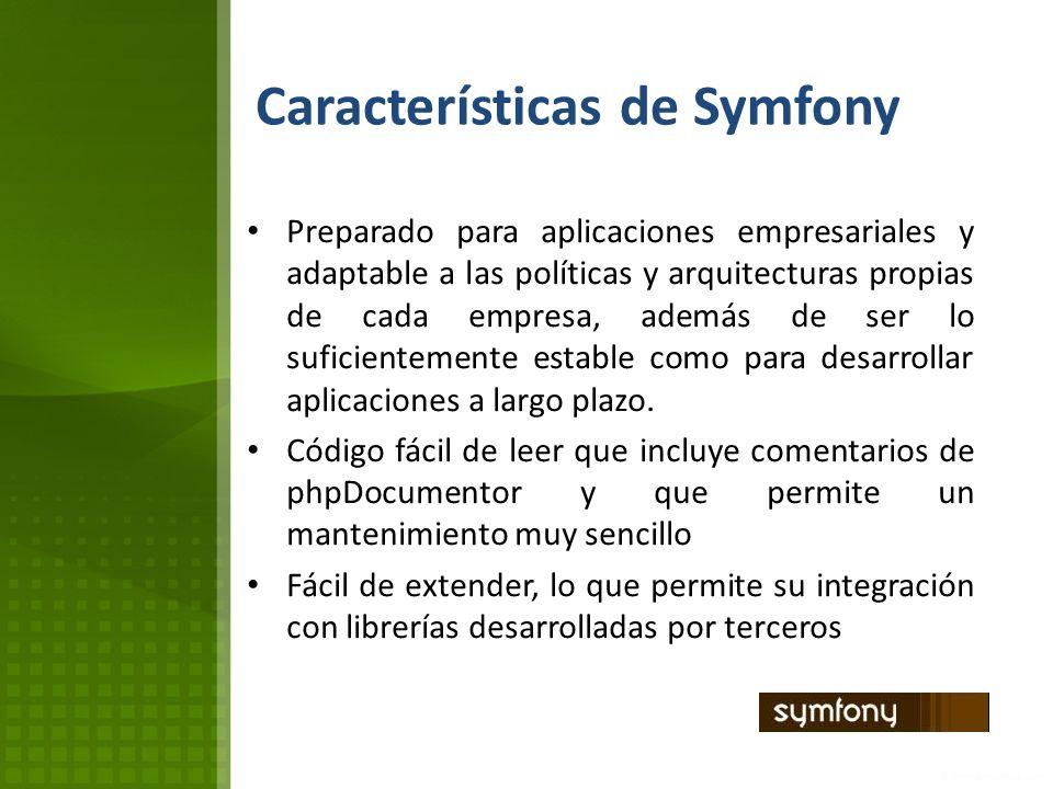Características de Symfony