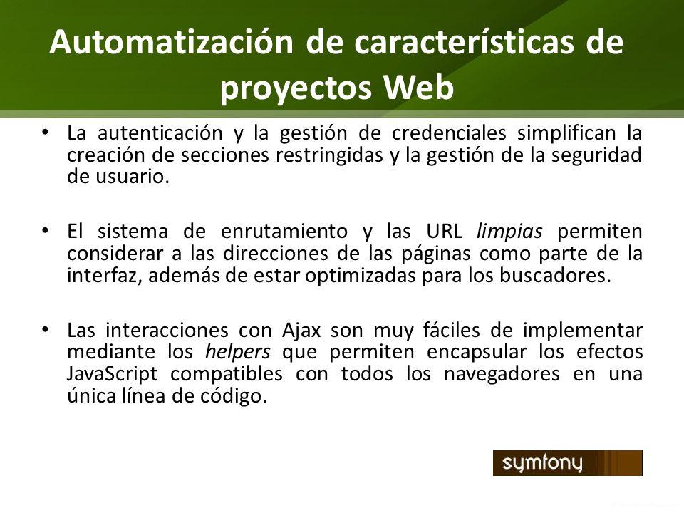Automatización de características de proyectos Web