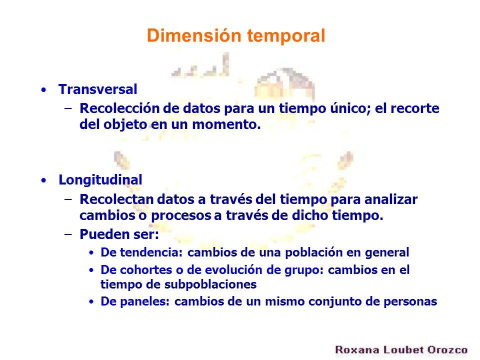 Dimensión temporal Transversal