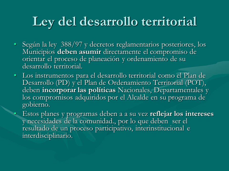 Ley del desarrollo territorial