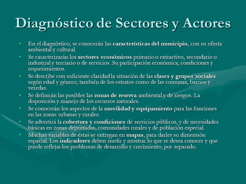 Diagnóstico de Sectores y Actores