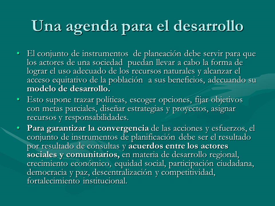Una agenda para el desarrollo