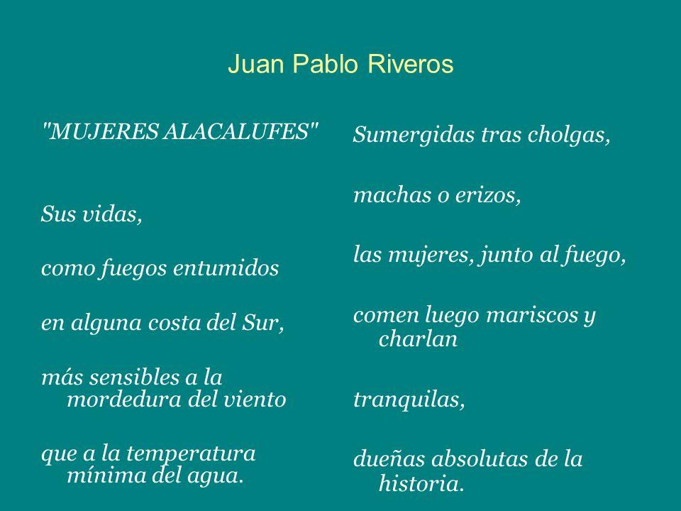 Juan Pablo Riveros MUJERES ALACALUFES Sus vidas,