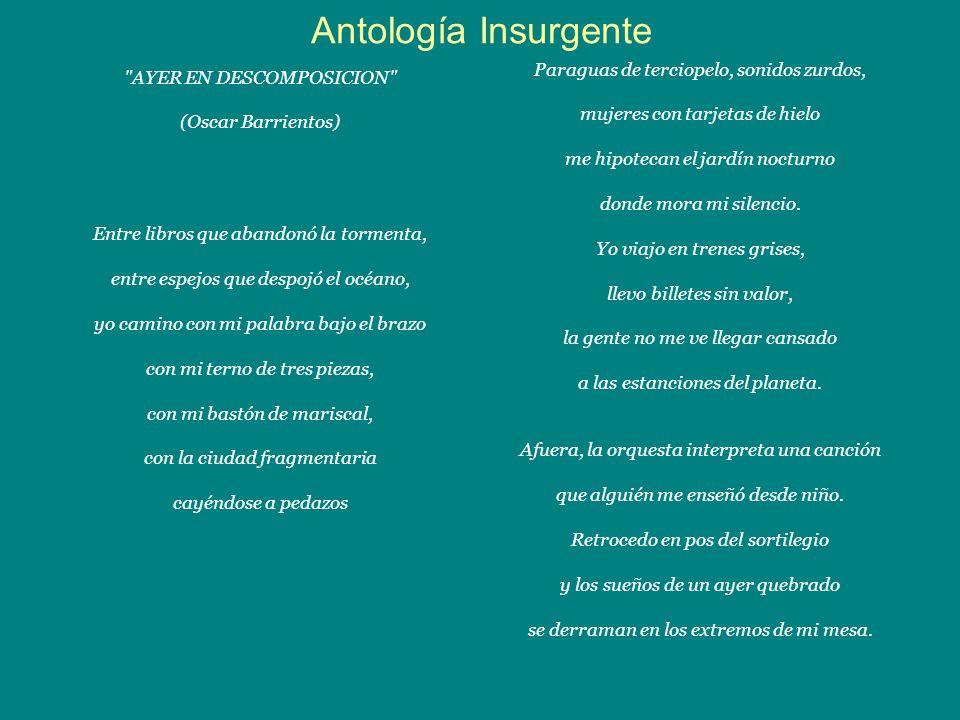 Antología Insurgente Paraguas de terciopelo, sonidos zurdos,