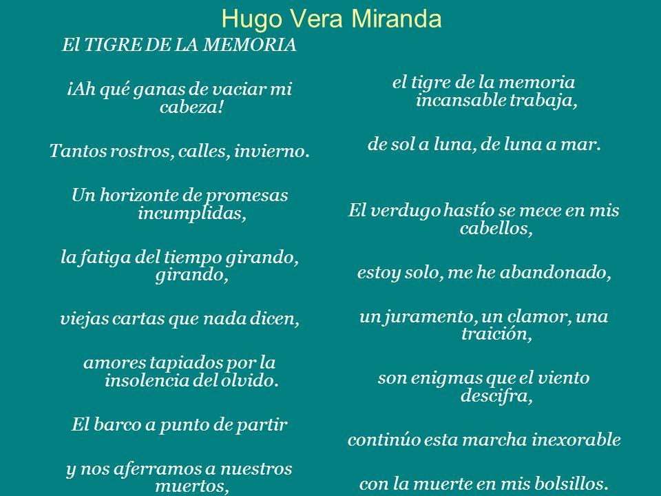 Hugo Vera Miranda El TIGRE DE LA MEMORIA