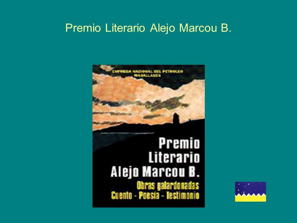Premio Literario Alejo Marcou B.