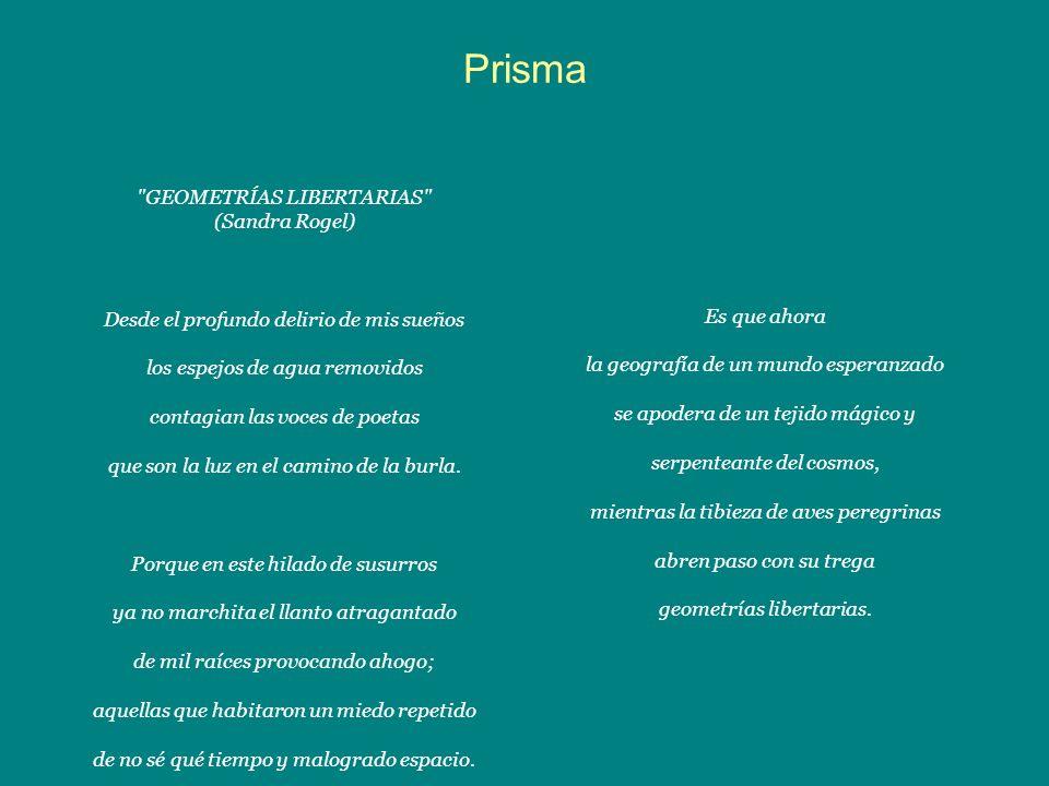 Prisma GEOMETRÍAS LIBERTARIAS (Sandra Rogel)