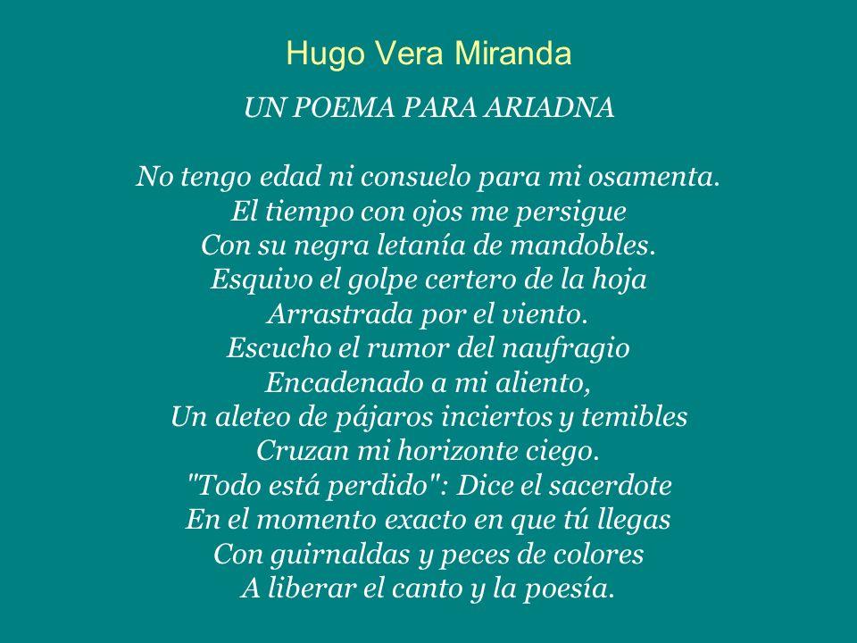 Hugo Vera Miranda UN POEMA PARA ARIADNA