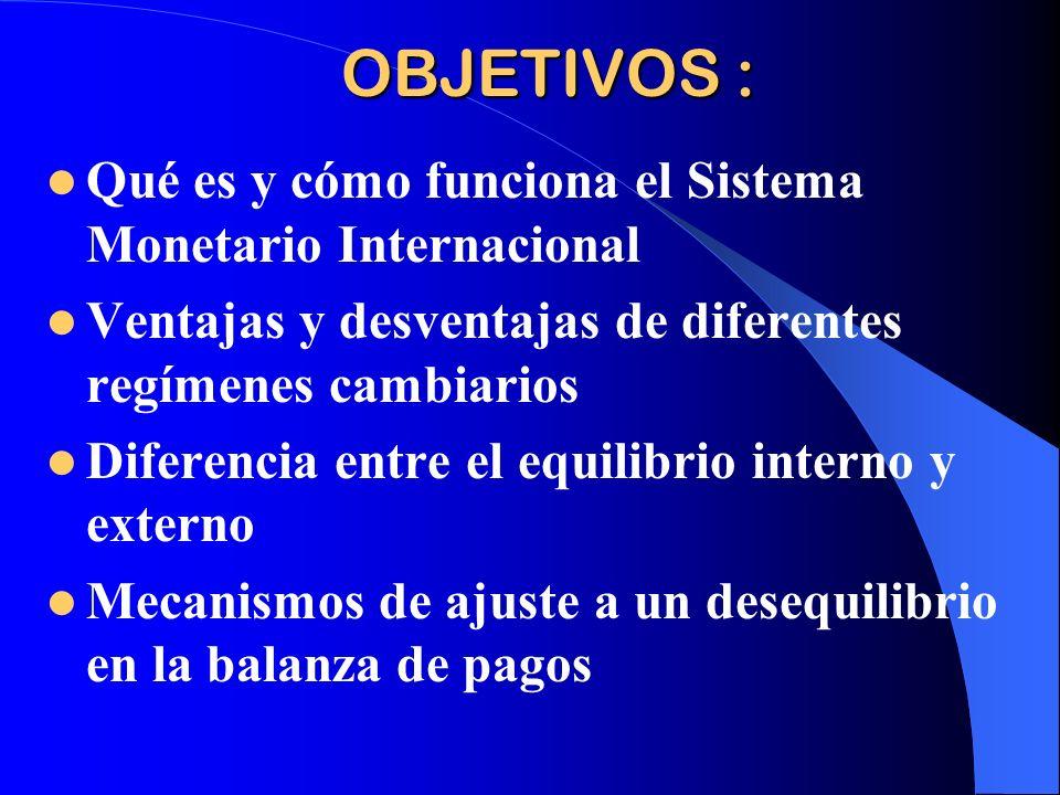OBJETIVOS : Qué es y cómo funciona el Sistema Monetario Internacional