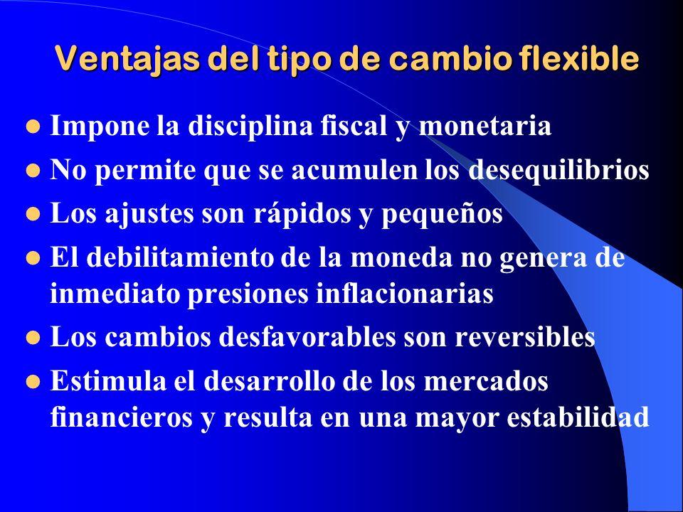 Ventajas del tipo de cambio flexible