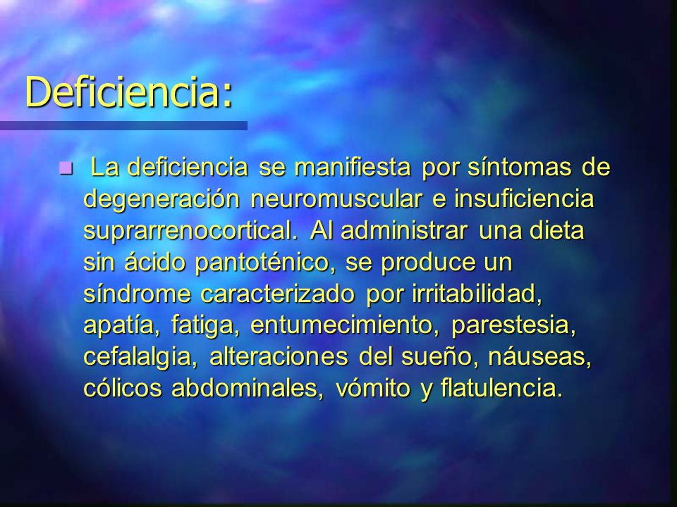 Deficiencia: