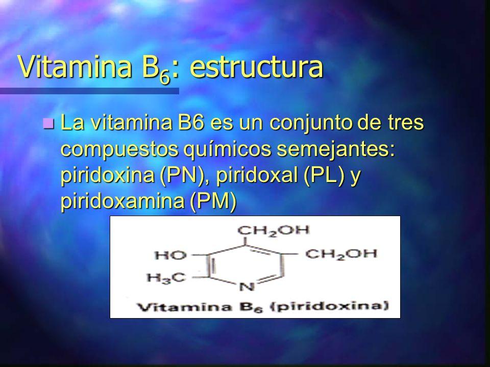 Vitamina B6: estructura