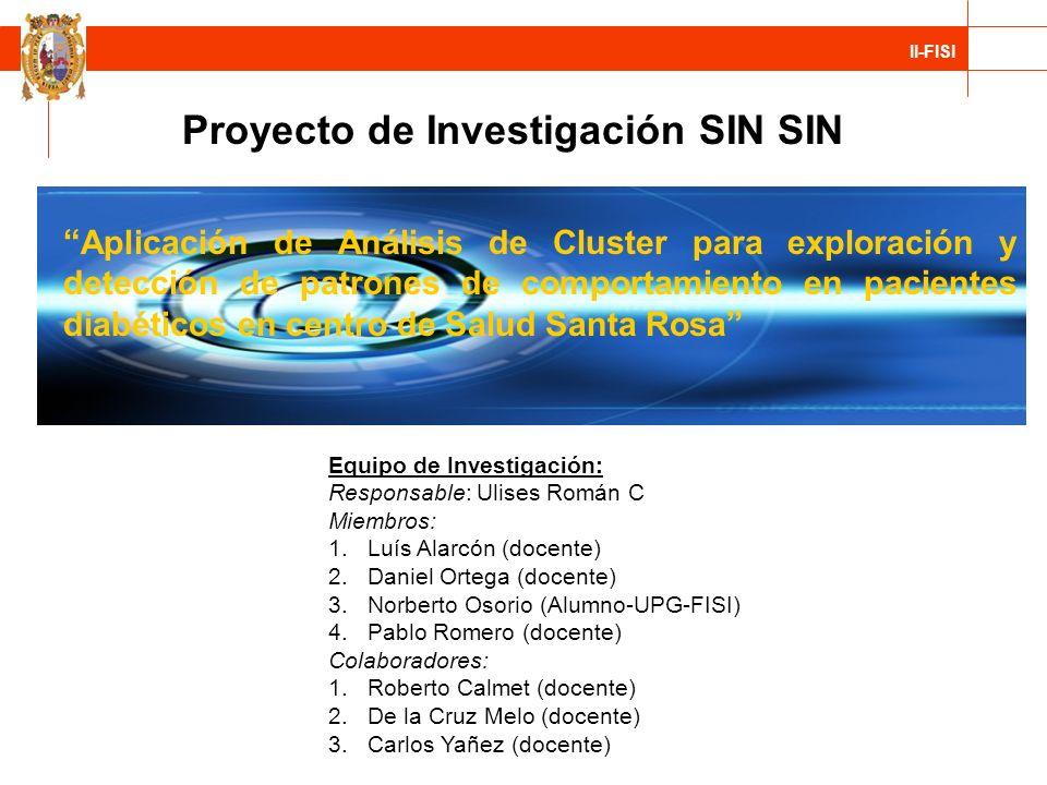 Proyecto de Investigación SIN SIN