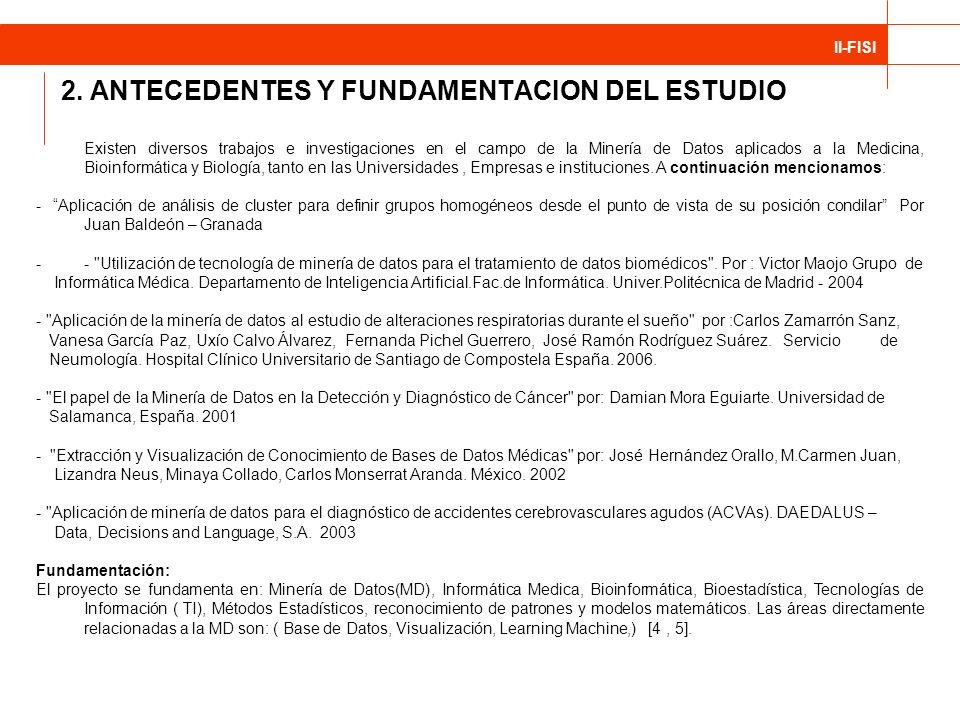 2. ANTECEDENTES Y FUNDAMENTACION DEL ESTUDIO