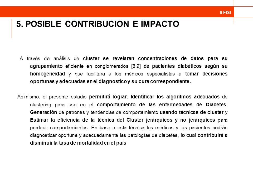 5. POSIBLE CONTRIBUCION E IMPACTO