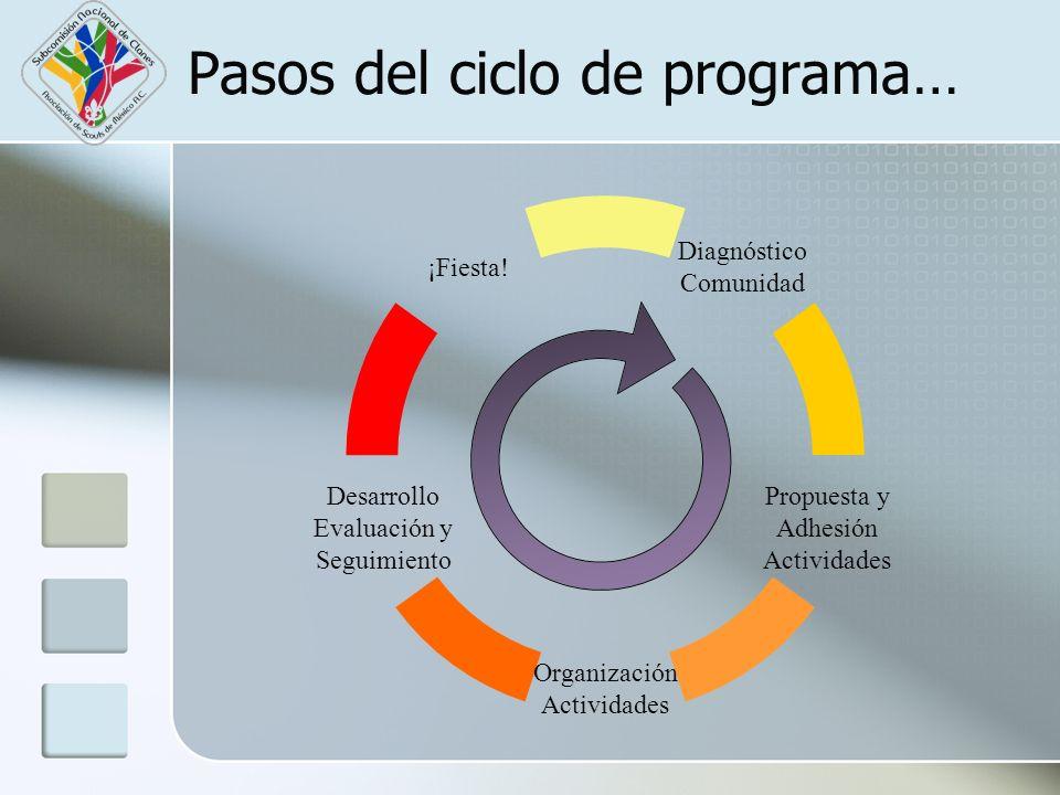 Pasos del ciclo de programa…