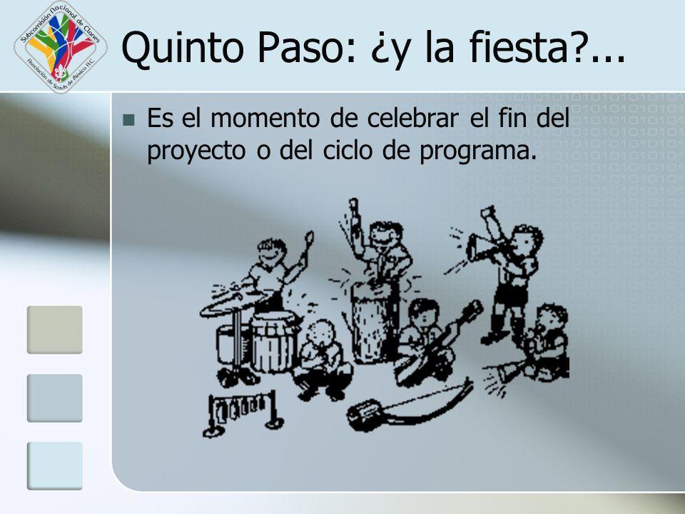 Quinto Paso: ¿y la fiesta ...