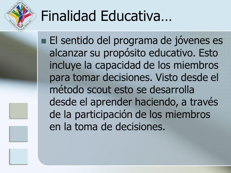 Finalidad Educativa…