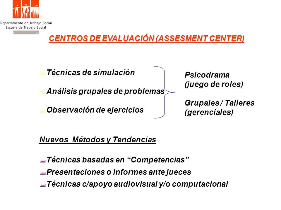 CENTROS DE EVALUACIÓN (ASSESMENT CENTER)