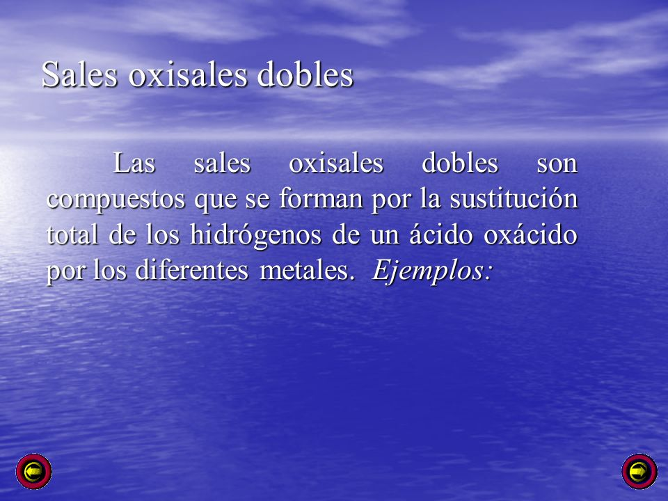 Sales oxisales dobles
