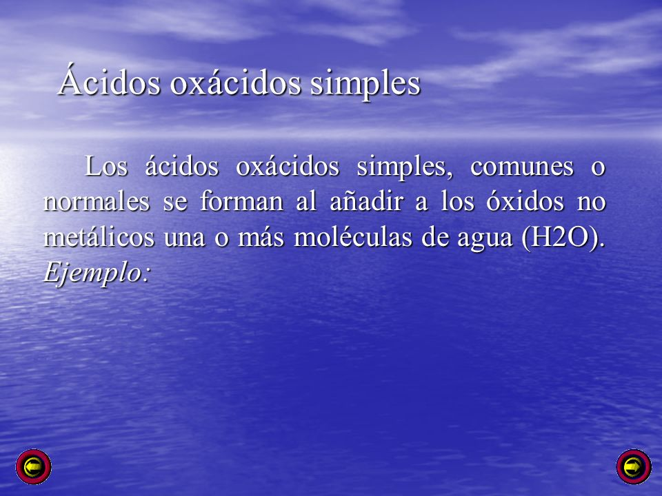 Ácidos oxácidos simples