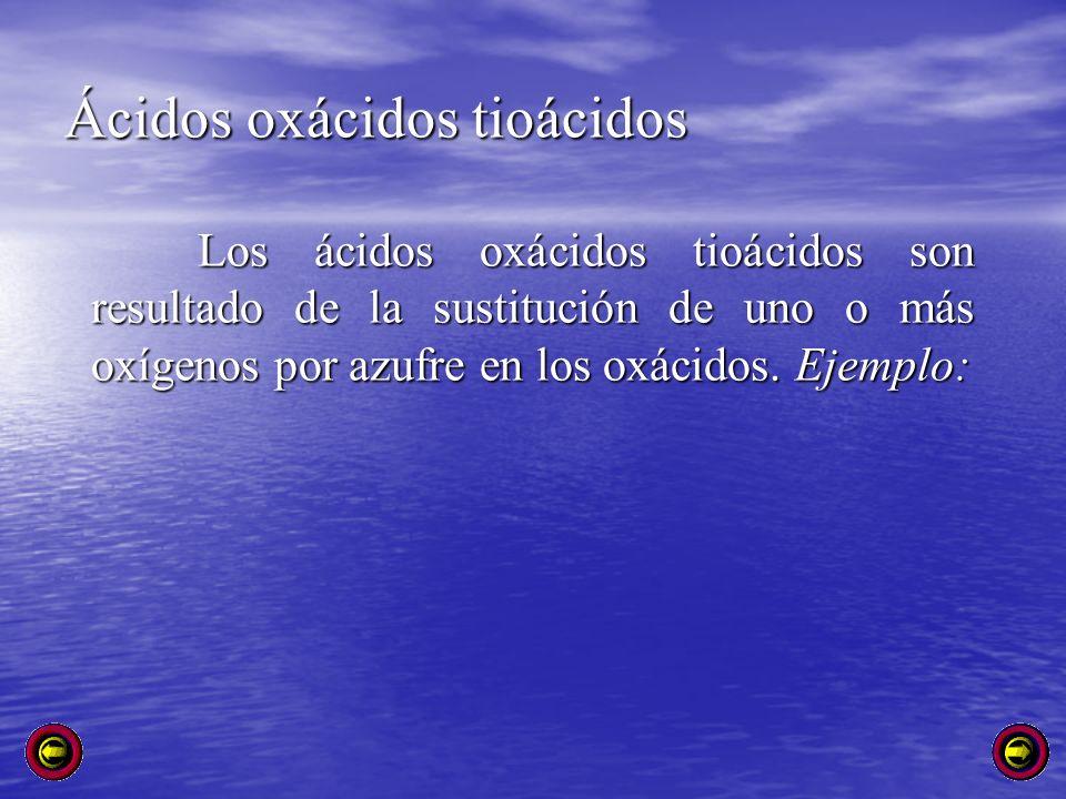 Ácidos oxácidos tioácidos