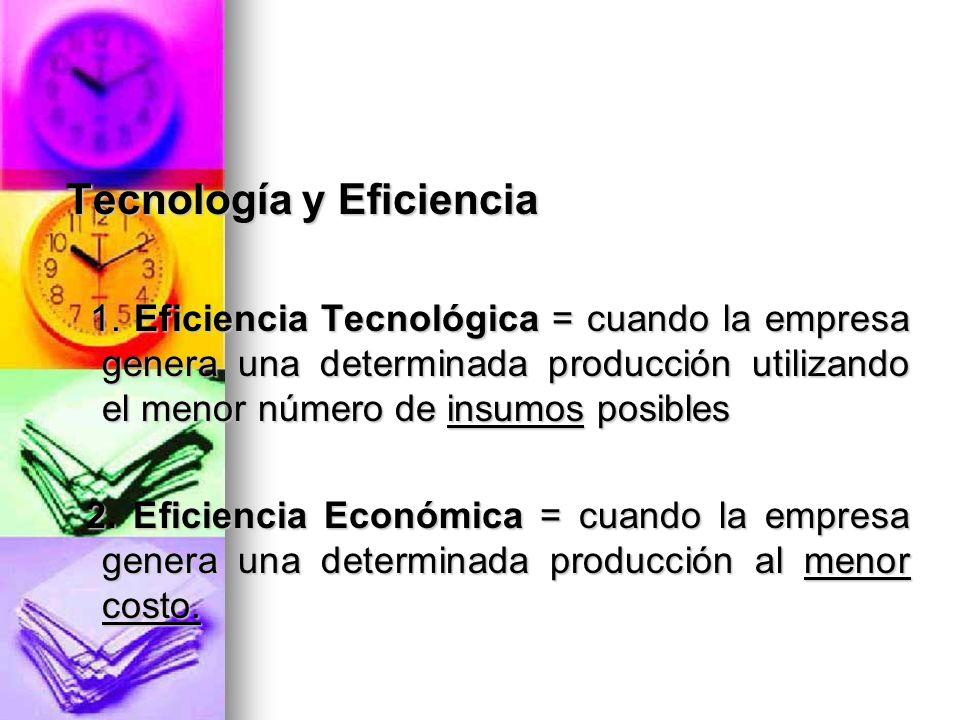 Tecnología y Eficiencia