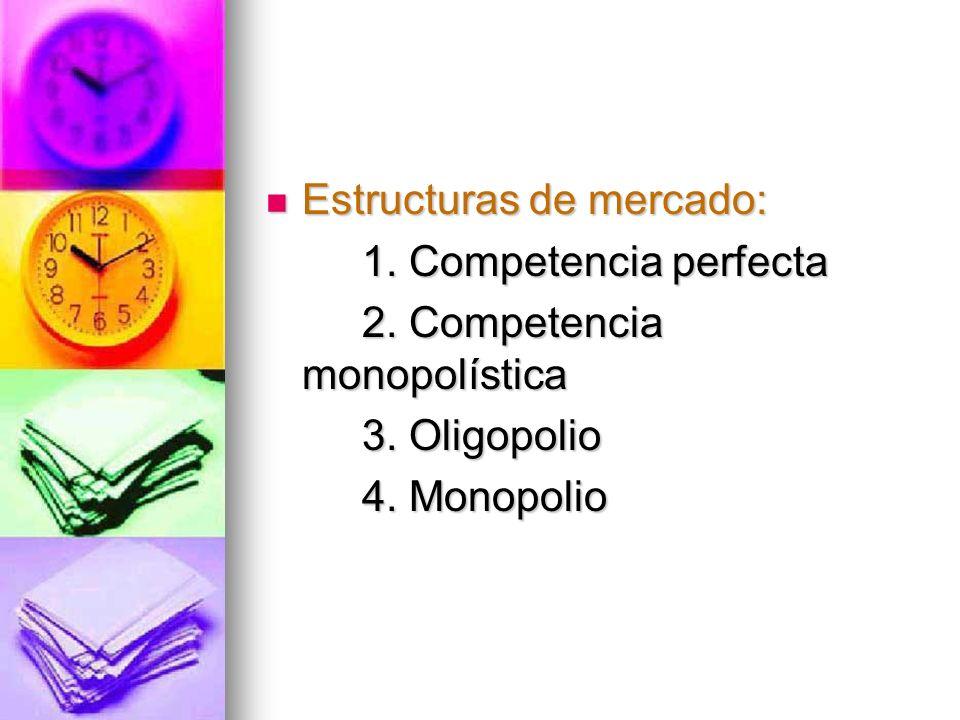 Estructuras de mercado: