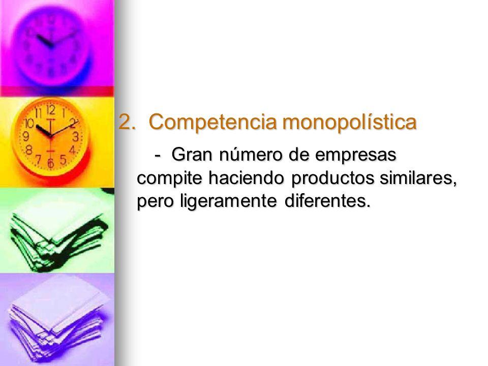 2. Competencia monopolística