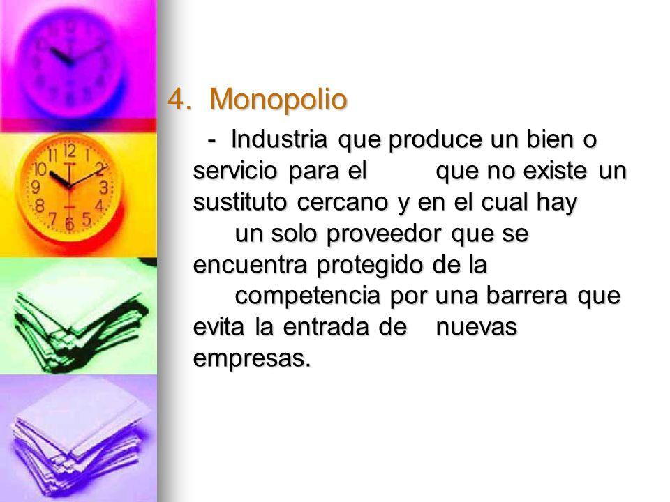 4. Monopolio