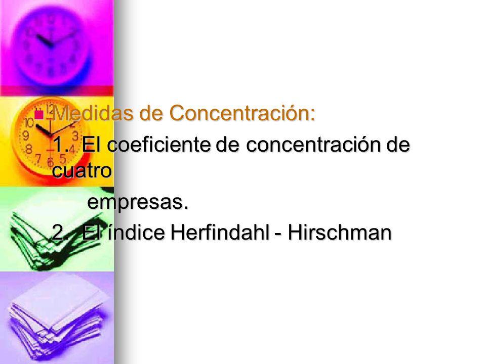Medidas de Concentración: