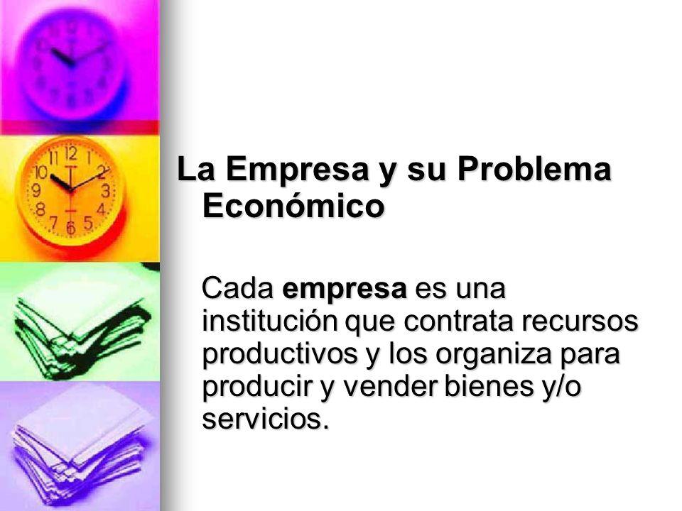 La Empresa y su Problema Económico