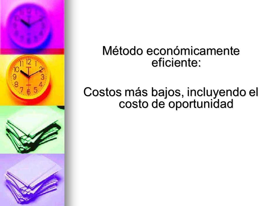 Método económicamente eficiente: