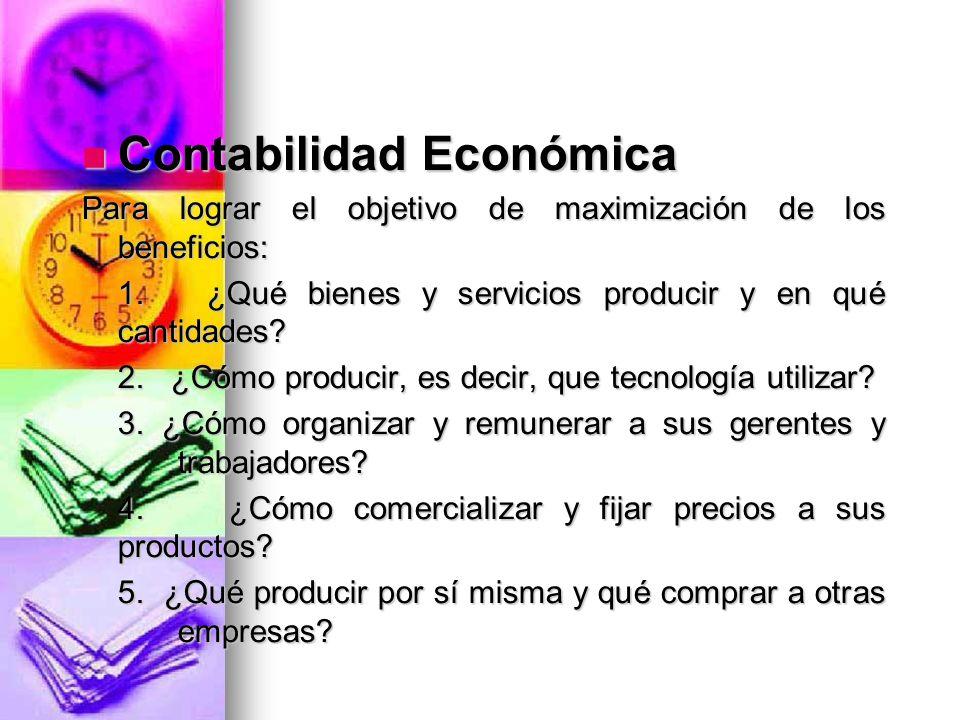 Contabilidad Económica