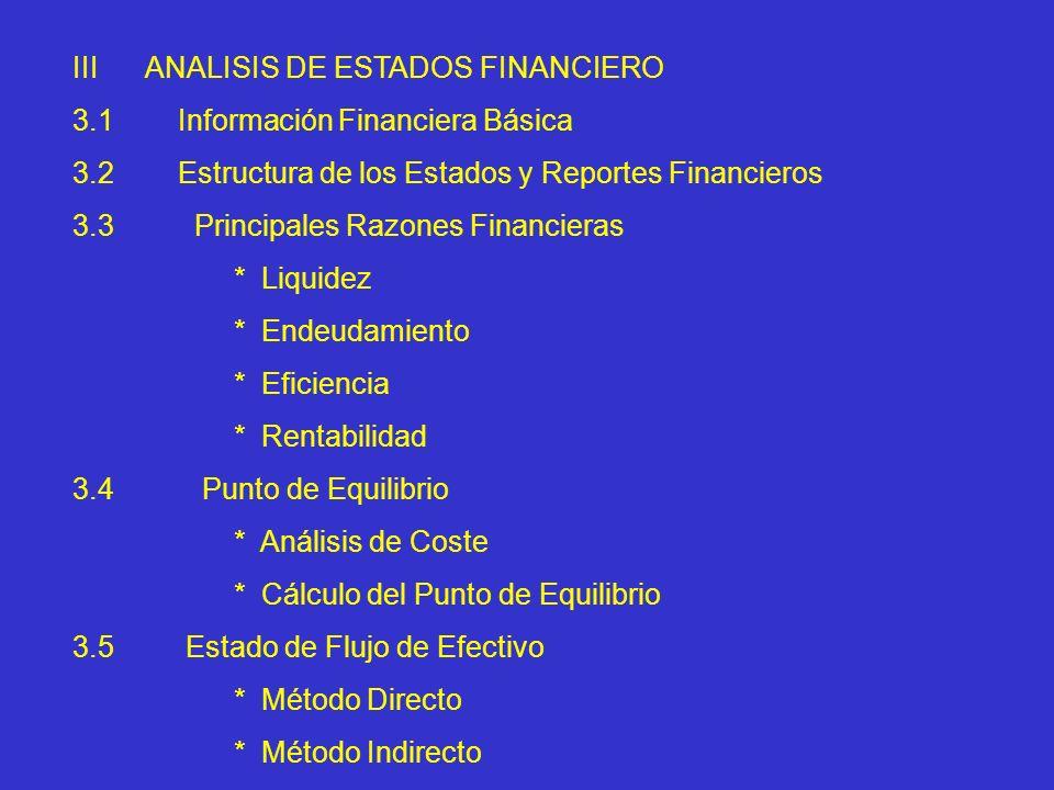 III ANALISIS DE ESTADOS FINANCIERO
