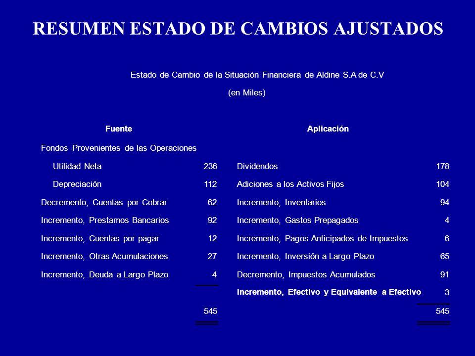 RESUMEN ESTADO DE CAMBIOS AJUSTADOS