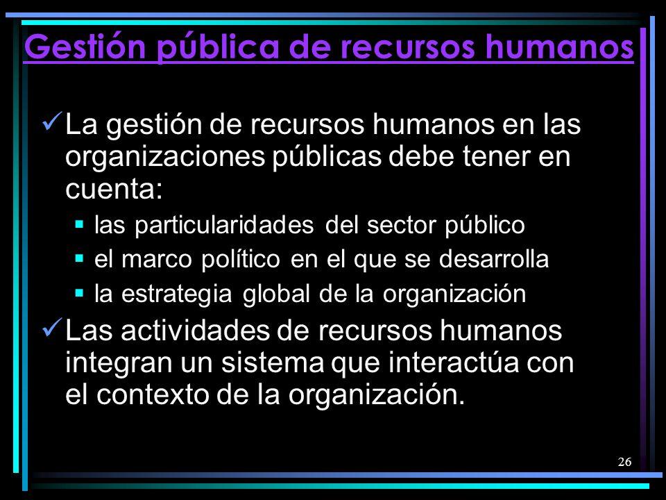Gestión pública de recursos humanos